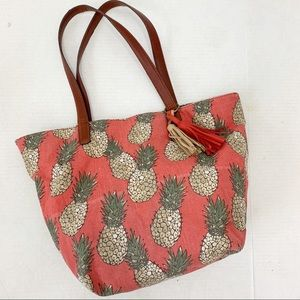 Lucky Brand Pineapple Key West Tote